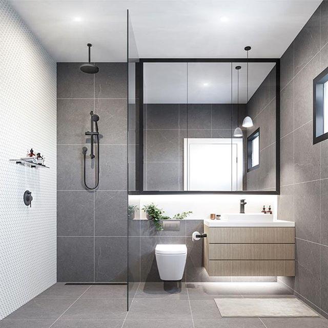 Casas de banho branco e cinza a combina o do momento for Banos modernos y pequenos 2017