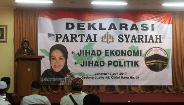 Tujuh Alumni Aksi 212 Mendeklarasikan Partai Syariah, Ketua Penggagasnya Seorang Wanita