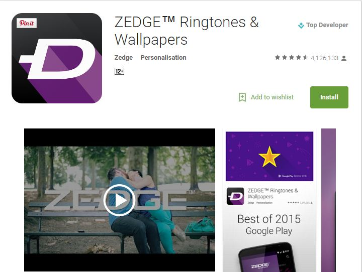 zedge free mobile apps for ringtones and wallpapers