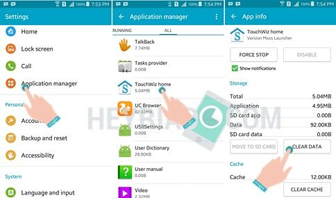 Cara Mengatasi TouchWiz Depan Terhenti Samsung