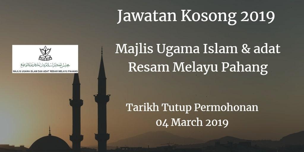 Jawatan Kosong MUIP 04 March 2019