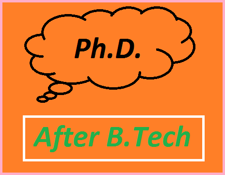 Ph.D After B.Tech in India