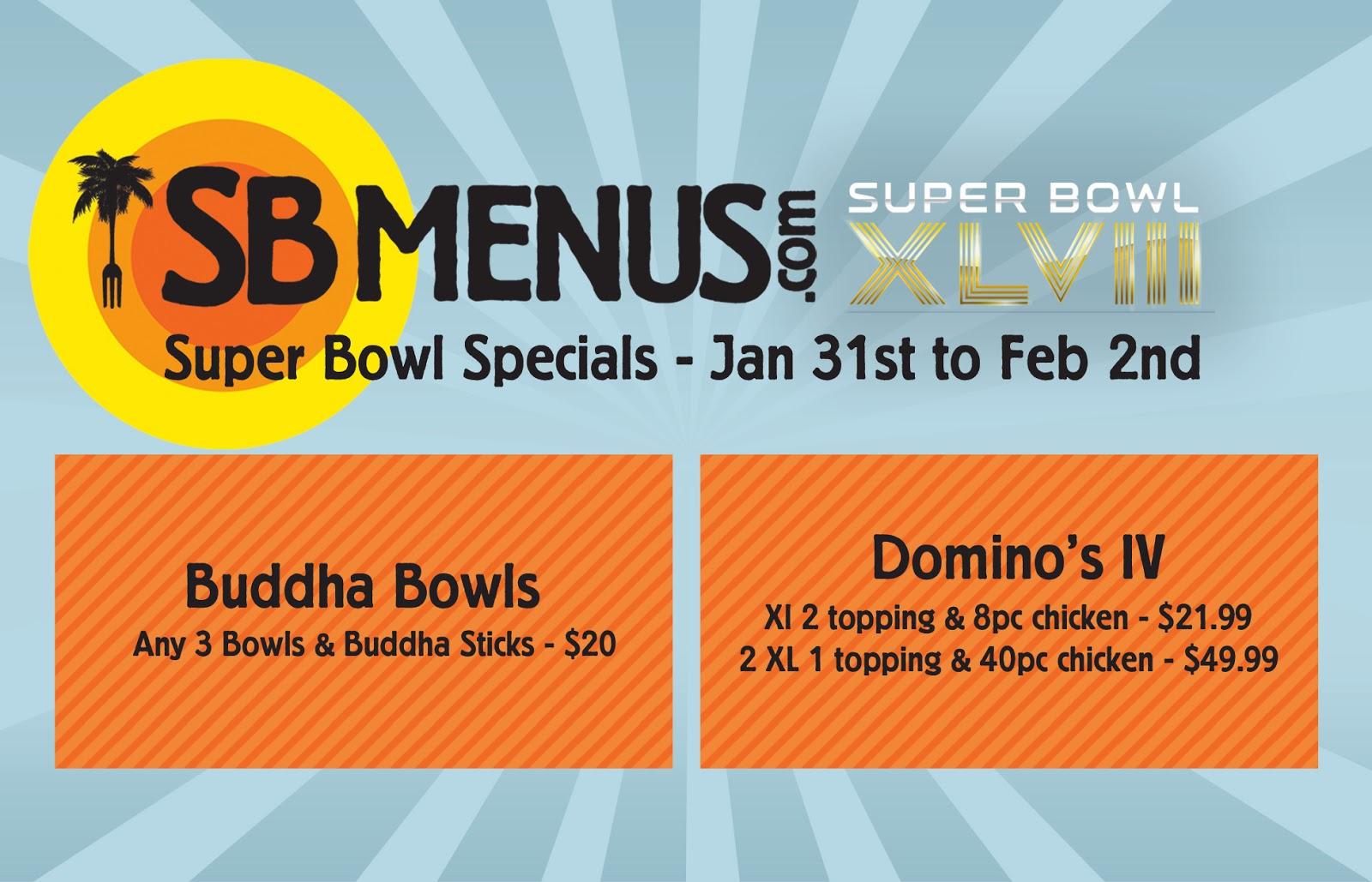 Super Bowl Weekend Specials