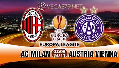 Nhận định - Soi kèo: AC Milan vs Austria Wien