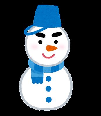 雪だるまのキャラクター(男性)