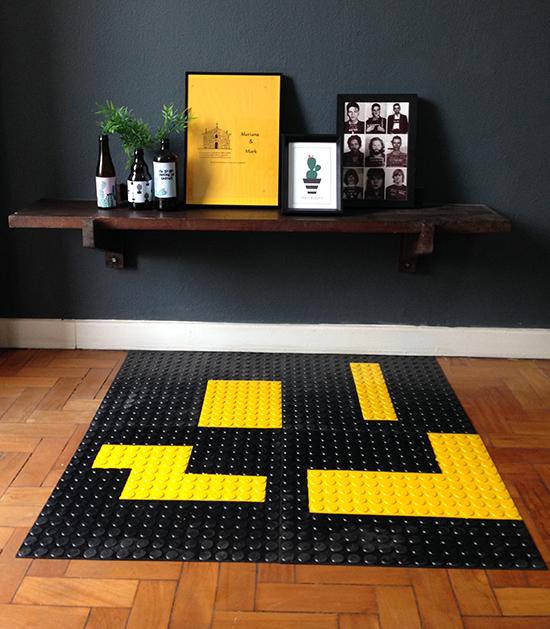 piso borracha, piso pastilhado, tapete, tapete geek, a casa eh sua, acasaehsua, home decor, decor, decoração