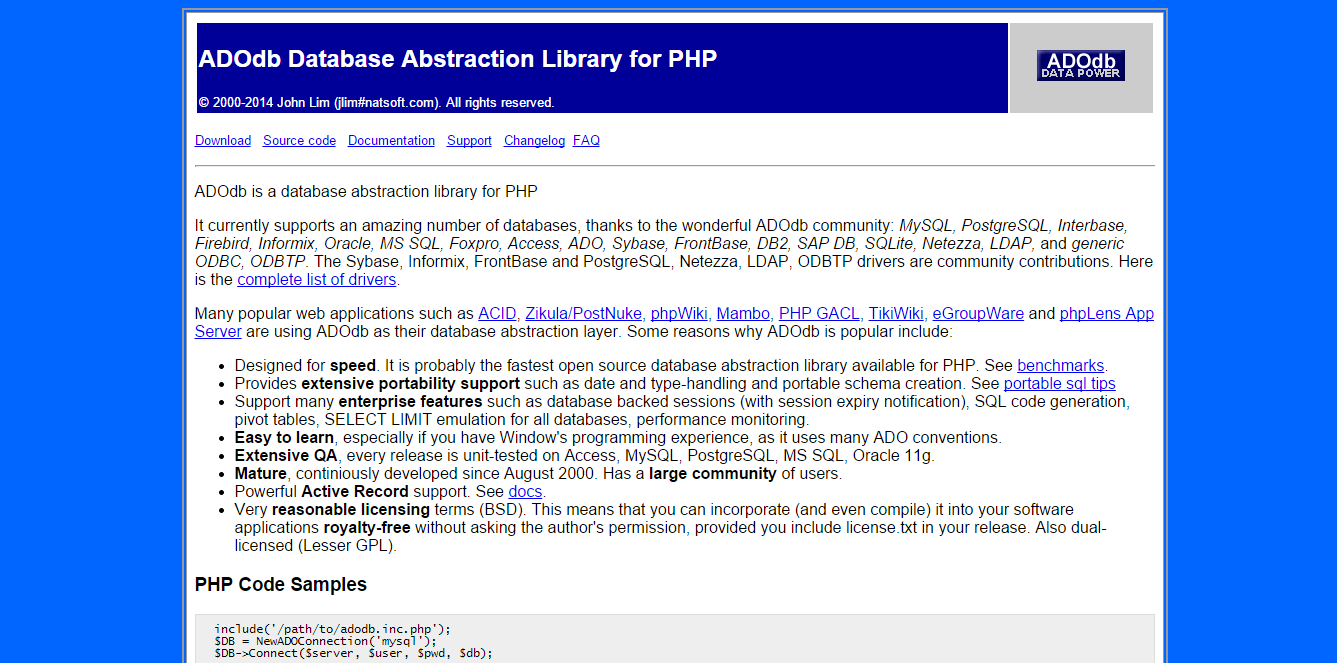 ADOdb Database Abstraction Library