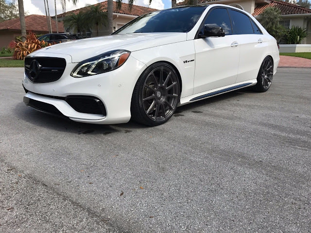 Ngk Spark Plugs >> 2014 Mercedes-Benz W212 E63 AMG on HRE P43SC Wheels | BENZTUNING
