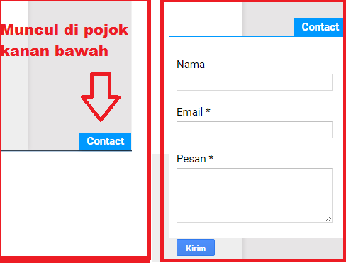 Membuat Floating Contact Form Pada Blog