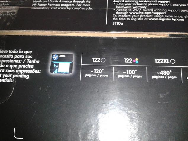 Caja de impresora de impresora HP