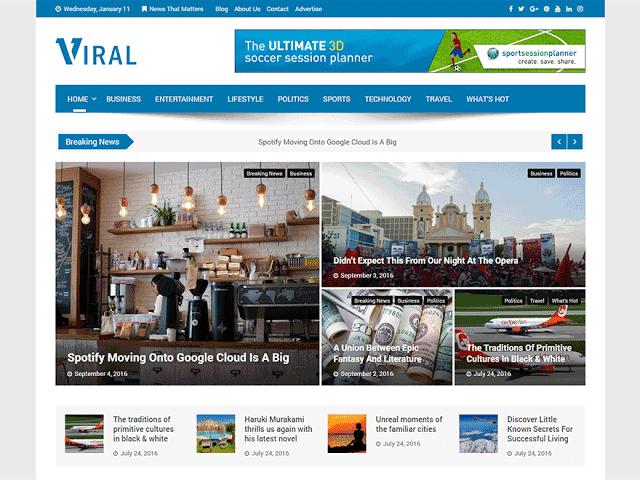 viral WordPress Theme Free Download