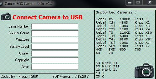 FreeDataService com: Shutter Count Software Nikon Canon Free