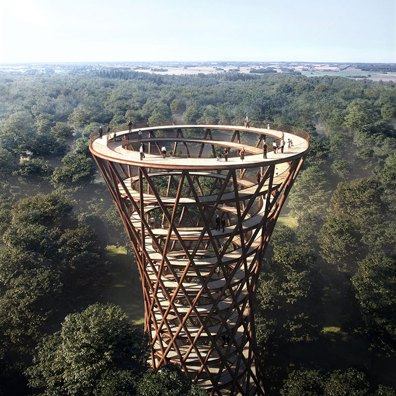 Treetop Experience Observation Tower by EFFEKT