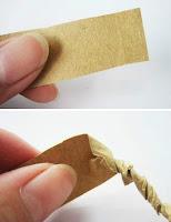 Kağıttan Hasır İp yapımı