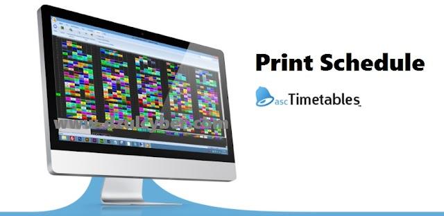Cetak Jadwal Pelajaran Otomatis dengan Asc TimeTables 2018