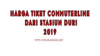 Harga Tiket Commuterline Dari Stasiun Duri Terbaru 2019