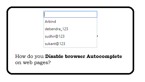 How do you disable browser Autocomplete on web form field / input tag?