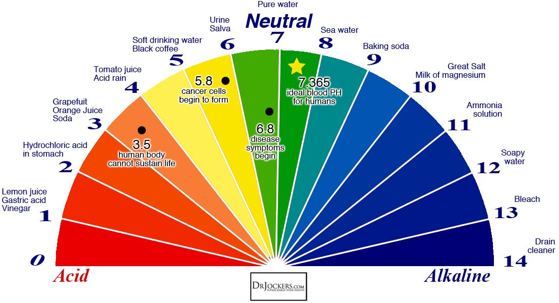 Baking Soda Acid Alkaline Color Wheel