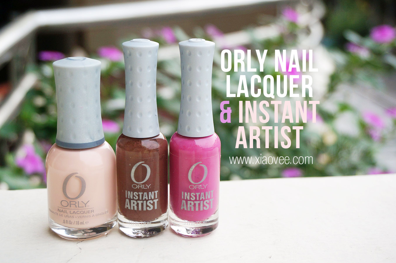 Orly Nail Lacquer Prelude to A Kiss, Orly Instant Artist Rose, Orly Instant Artist Chocolate review swatch
