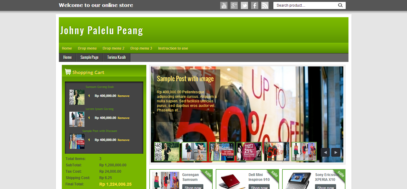 Johny palelu peang blogger template themes blogger for Shopping cart template for blogger