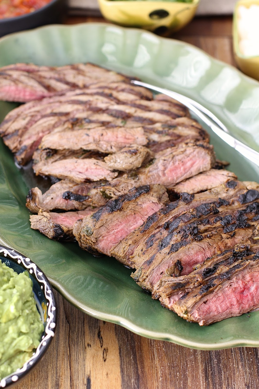Grilled Marinated Flank Steak with Roquefort and Avocado ...