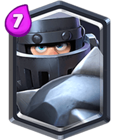 Carta do Megacavaleiro do Clash Royale