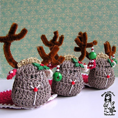 crochet DIY, crochet coaster pattern, crochet pattern, crochet reindeer, crochet Vendulka, Magic with hook and needles