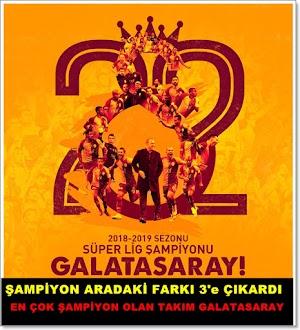 Galatasaray kaç kez şampiyon oldu?