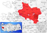 Kula ilçesinin nerede olduğunu gösteren harita