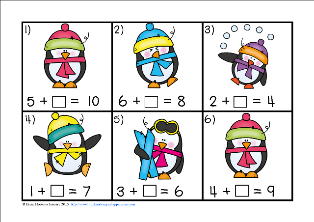 https://www.teacherspayteachers.com/Product/Penguin-Missing-Number-Equations-Task-Cards-1645079