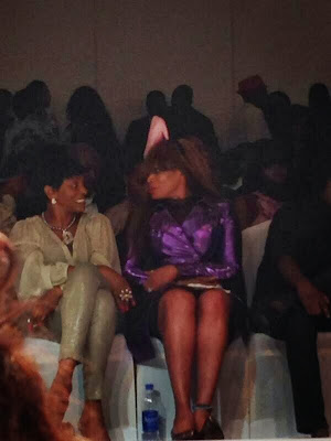 nkiru anumudu wears shoes on head