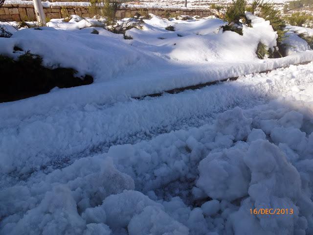 שלג על הכביש בירושלים
