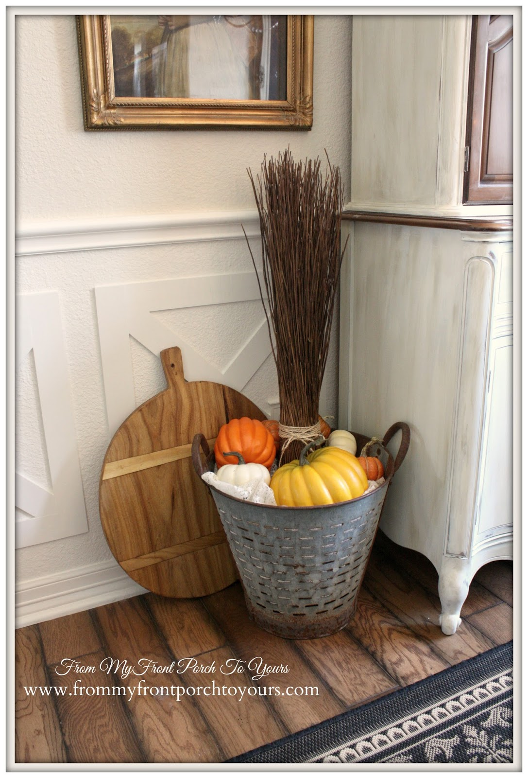 From My Front Porch To Yours- Fall Dining Room 2014- French Farmhouse Dining Room