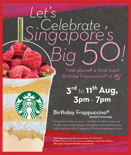 Celebrate Singapore's 50th With A Starbucks Birthday