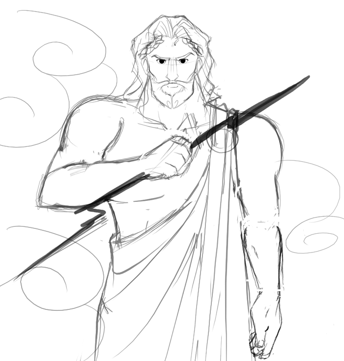 Sketches Of Zeus Greek God Coloring Pages