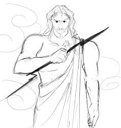 zeus sketch greek mythology bitty itty