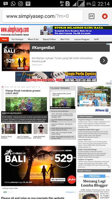 Halaman depan blog www.simplyasep.com