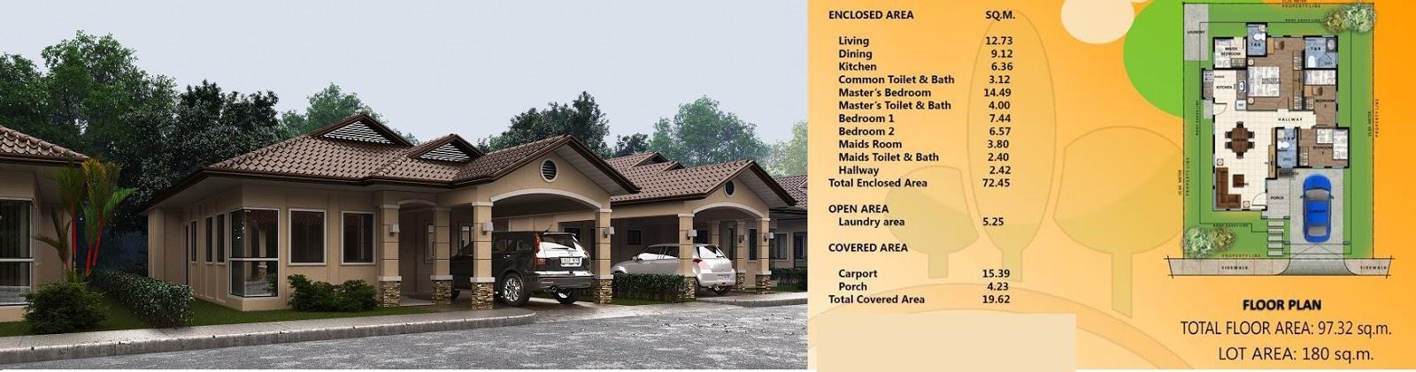 Villa Conchita Chloe House Model Floor Plan