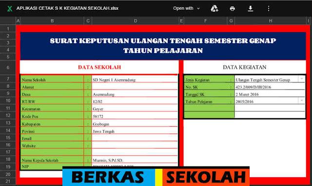 Download 9 SK (Surat Keputusan) dalam 1 File Excel tanpa Password dan Bisa Edit