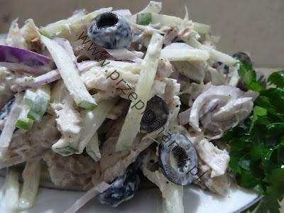 Sałatka z makreli zielonego ogórka