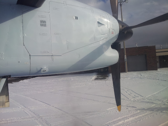 View from a twin engine prop plane