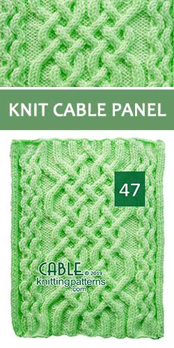 Knit Cable Panel Pattern 47, its FREE