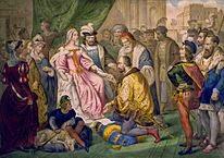 Recepción de Colón por los reyes