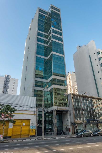 O edifício do Ministério Público Federal em Curitiba