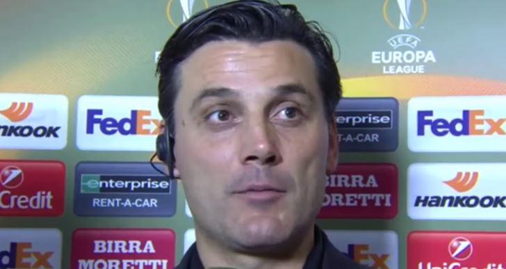 Montella intervistato al termine di Milan Rijeka 3-2