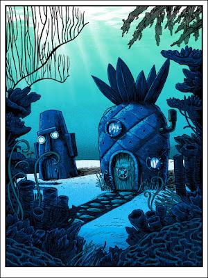 "C2E2 2018 Exclusive SpongeBob Squarepants ""124 Conch Street"" Screen Print by Tim Doyle x Nakatomi x SpokeArt"