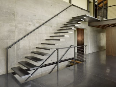 modern interior staircase design ideas with railing