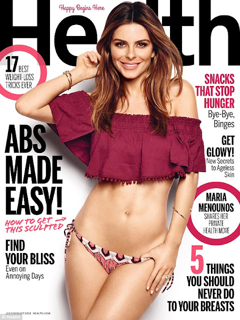 Actress, @ Maria Menounos - Health Magazine July/August 2016