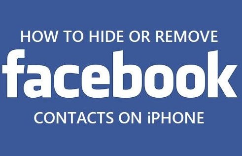 how to delete facebook contacts on iphone