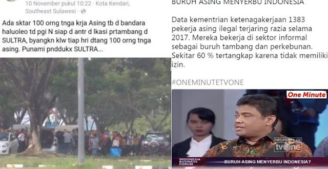 Buruh Asing Serbu Indonesia Bukan Hoax, Ini Bukti yang Diungkap Netizen dan Liputan tvOne